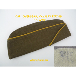 CAP, OVERSEAS, CAVALRY PIPING, US WW2