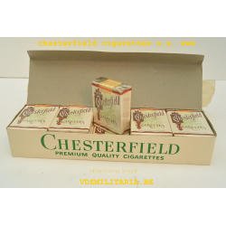 ONE PACKET ''CHESTERFIELD'' CIGARETTES US ARMY WW2