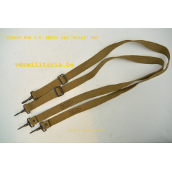 STRAPS (PAIR) FOR U.S. MEDIC BAG WW2, MFG. BY MILLS