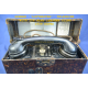 LUFTWAFFEN TELEPHONE WITH RARE STRETCH OF ORIGIN IN BROWN LEATHER.