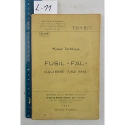 """TM9-B277 """"FUSIL FAL cal. 7,62 belge"""""""