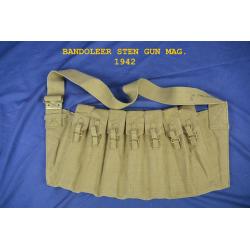 BANDOUILERE POUR CHARGEURS POUR STEN,G.B.,WWII