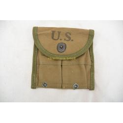 GARAND U.S. 1944 RIFLE CLIPS POUCH, WW2