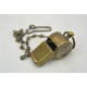 U.S. ARMY WW2 WHISTLE, PERSONALIZED, COMPLETE, BRASS
