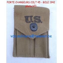 """Porte chargeurs U.S. M-1923""""BOYLE 1942""""DE COLT.45 1911&191A1,WWII"""