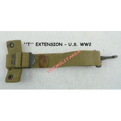 """""""T"""" - sanglon d'extension pour la gourde U.S., web kaki claire, WWII"""