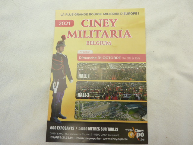 BOURSE MILITARIA CINEY 31 OCTOBRE 2021 EN BELGIQUE